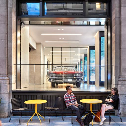 Adidas nyc projects gensler for Car showroom exterior design
