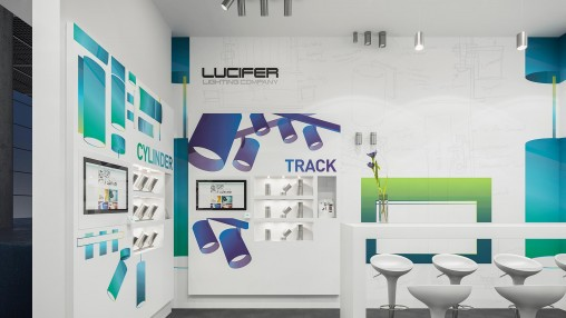 Lucifer Lighting Company Tradeshow Booth And Ads Projects