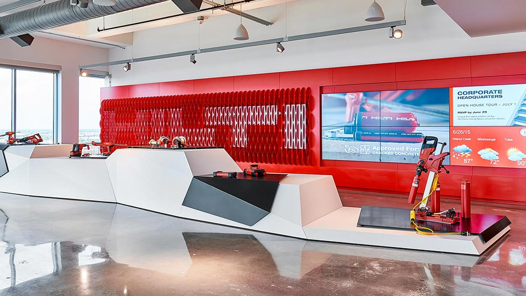hilti north america corporate headquarters brand design