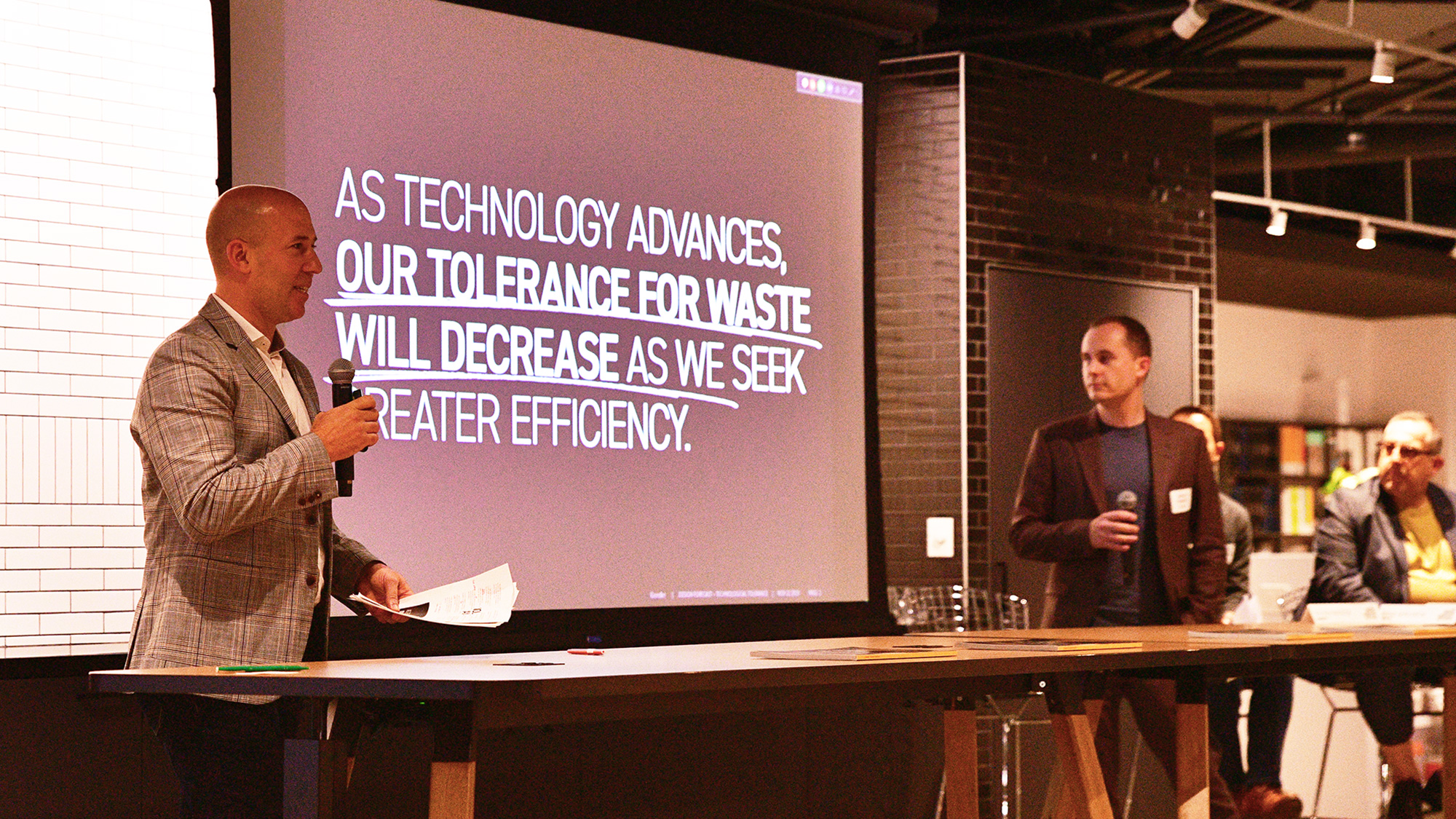 Gensler panelists talk about how technology has decreased our tolerance for waste