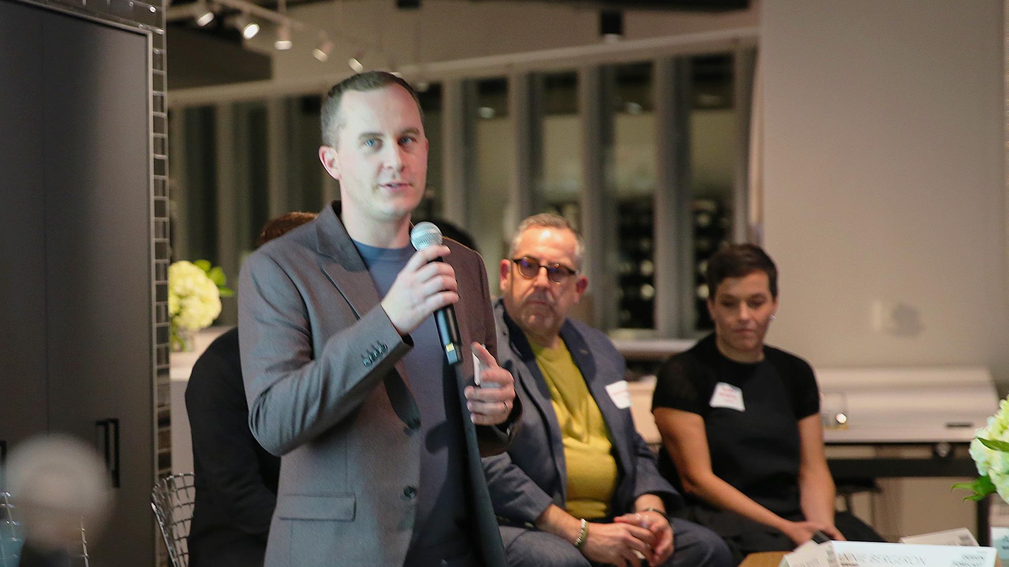 Gensler's Steven Paynter presents at Gensler Toronto's Design Forecast Local event
