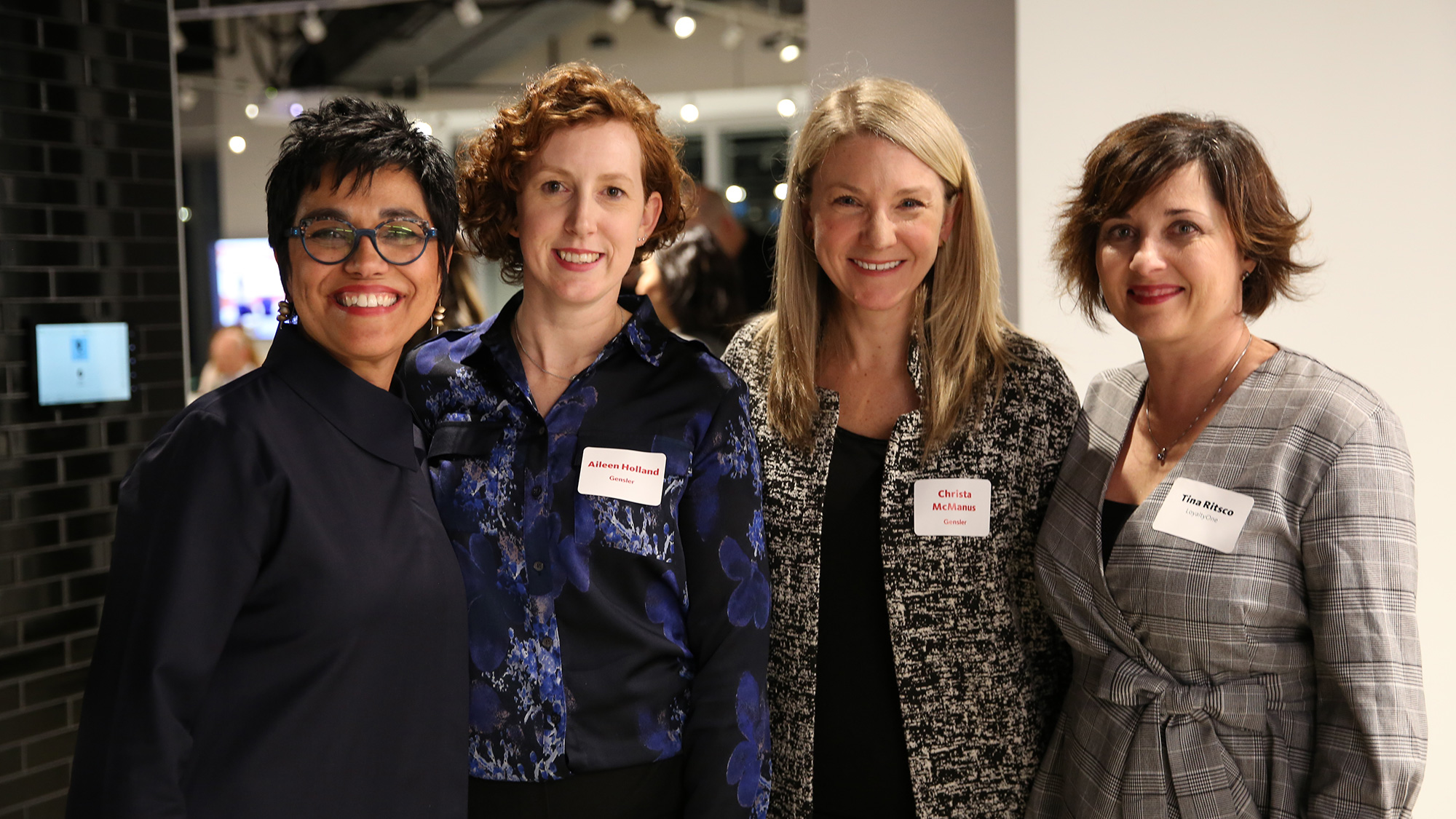 Some of the participants gather at Gensler Toronto's Design Forecast Local event