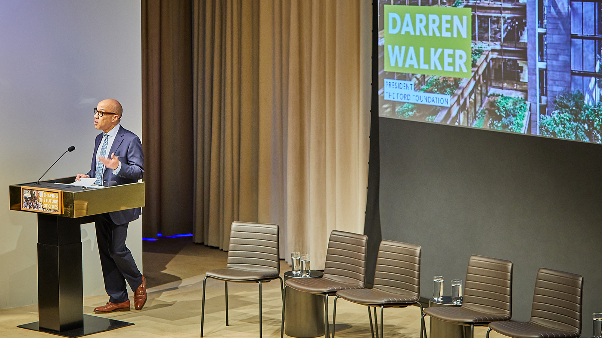 Ford Foundation President Darren Walker delivers welcome remarks