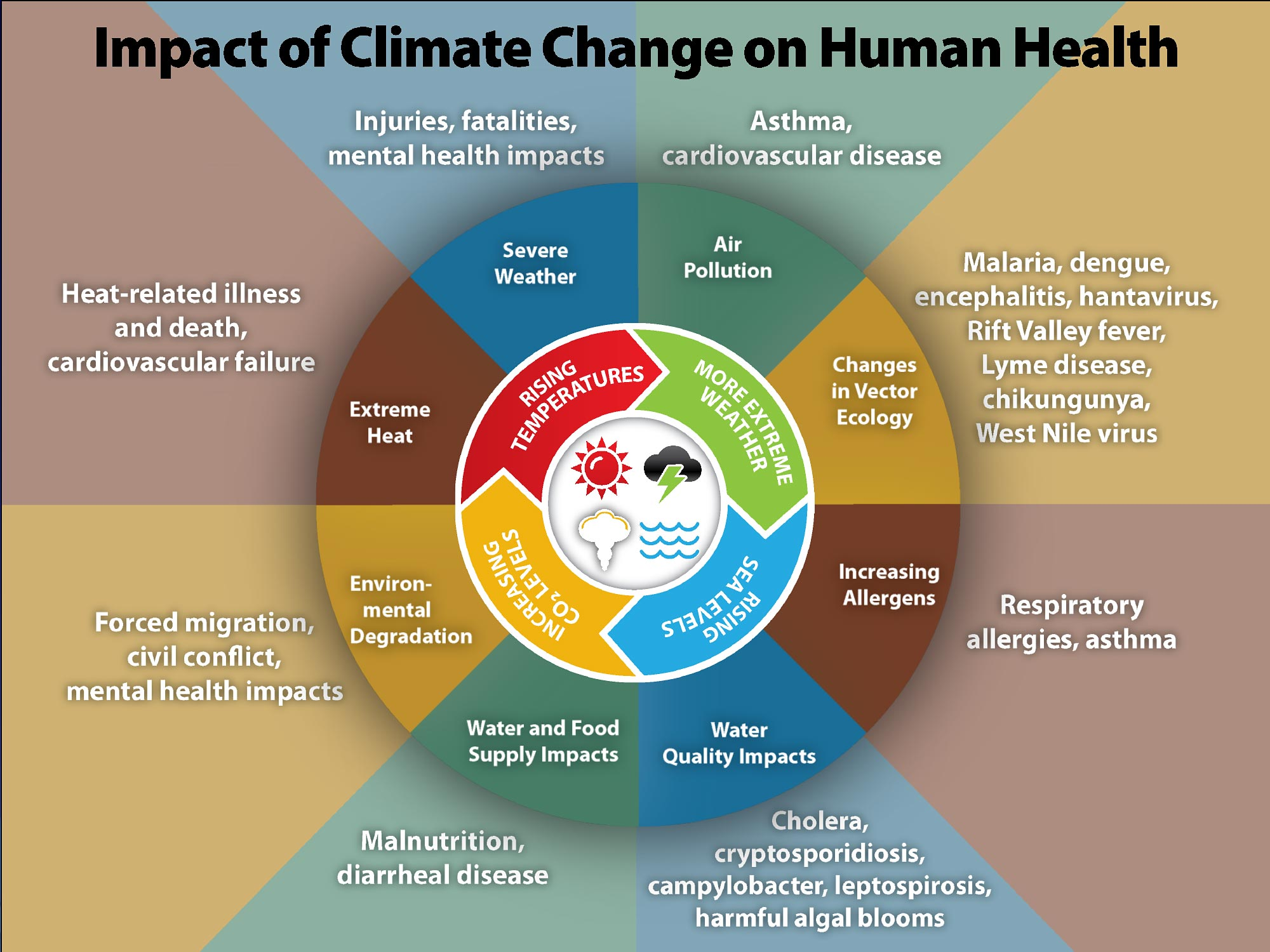 Climate Effects on Health, according to the CDC.