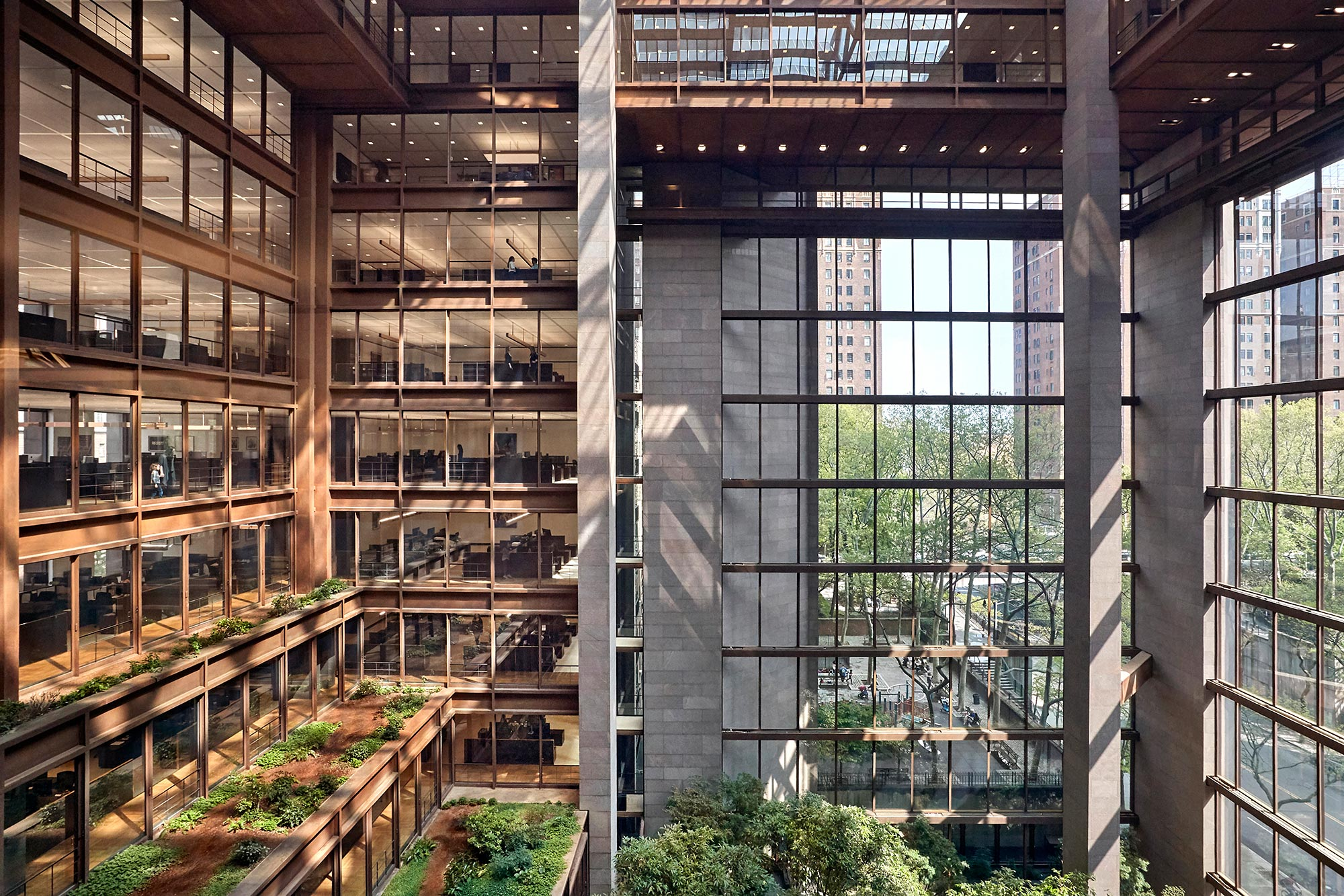The Ford Foundation Center for Social Justice, a 2020 winner of the American Institute of Architects Committee on the Environment Top Ten Awards for excellence in sustainable design.