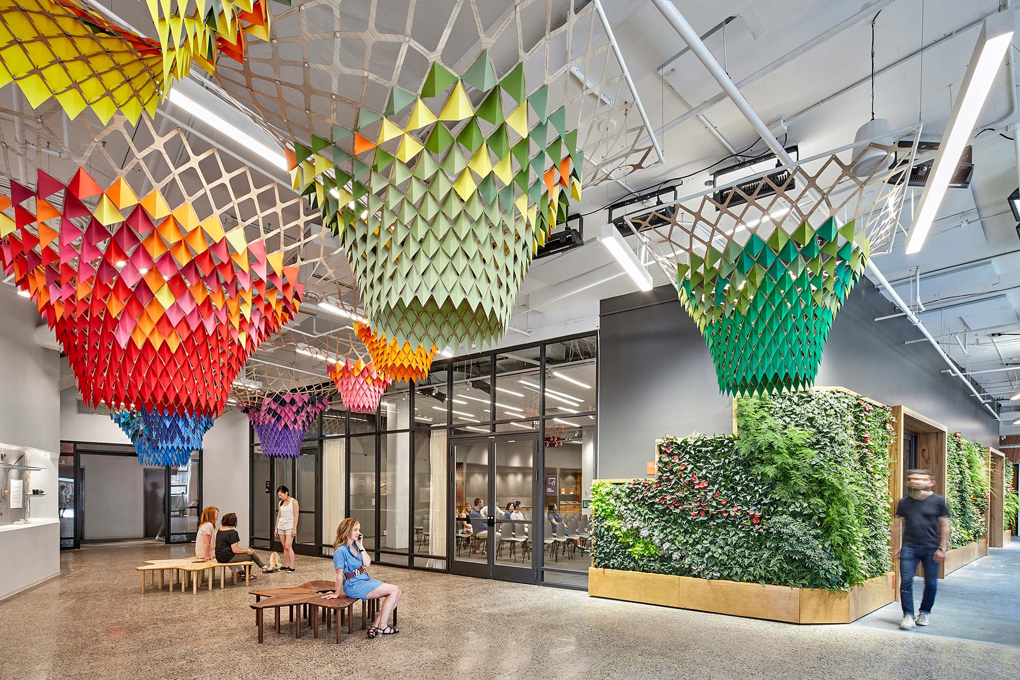 Etsy Headquarters, a 2020 winner of the American Institute of Architects Committee on the Environment Top Ten Awards for excellence in sustainable design.
